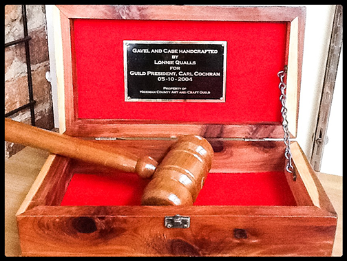 Lonnie Qualls - Handcrafted Gavel and Case